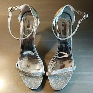Jenifer Lopez Silver Glitter Stilleto Heel Pumps 8
